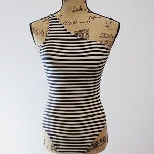 Norma Kamali Swim - Norma Kamali Striped Swimsuit